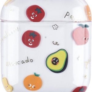 Apple AirPods 1 & 2 transparant fun hard case - mix fruit -