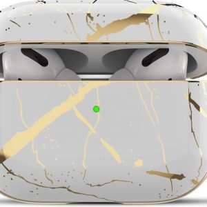 Apple Airpods Pro Case Cover - Airpods Pro Hoesje - Airpods Pro Hard PC - Wit - Polycarbonate - Airpods Pro Bescherming