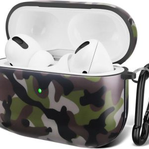 Apple Airpods Pro Case Cover - Airpods Pro Hoesje - Airpods Soft TPU - Camouflage - Soft TPU - Airpods Pro Bescherming - Protect