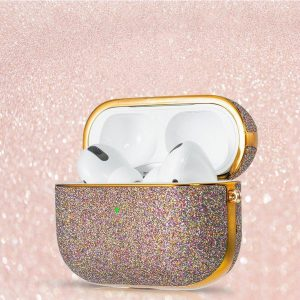 Bling shiny glitter case Protector for AirPods AirPods Pro - Paars