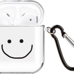By Qubix - AirPods 1/2 hoesje Painting series - hard case - Smile - Schokbestendig - AirPods hoesjes