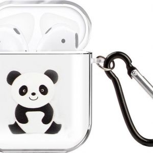 By Qubix - AirPods 1/2 hoesje Painting series - hard case - panda - Schokbestendig - AirPods hoesjes