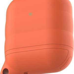 By Qubix - AirPods 1/2 hoesje siliconen waterproof series - soft case - oranje - AirPods hoesjes