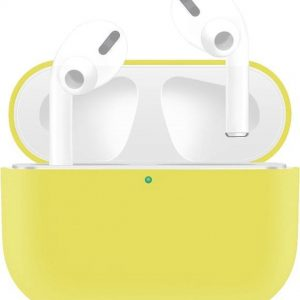 By Qubix - AirPods Pro Solid series - Siliconen hoesje - Geel