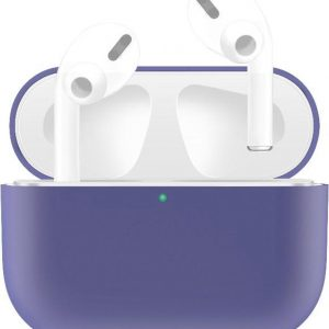 By Qubix - AirPods Pro Solid series - Siliconen hoesje - Lichtpaars - AirPods hoesjes