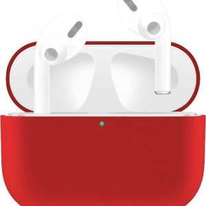 By Qubix - AirPods Pro Solid series - Siliconen hoesje - Rood