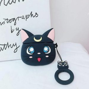 Cartoon Silicone Case voor Apple Airpods Pro - Black luna cat