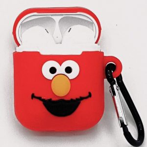 Cartoon Silicone Case voor Apple Airpods - Red smiling - met karabijn