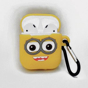 Cartoon Silicone Case voor Apple Airpods - see me smile - met karabijn