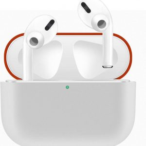 Case Cover Voor Apple Airpods Pro- Siliconen design-Rood-Wit | Watchbands-shop.nl