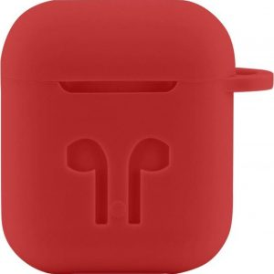 Case Cover Voor Apple Airpods - Siliconen Rood | Watchbands-shop.nl