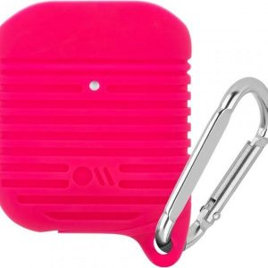 Case-Mate Tough Case voor AirPods - Bright Pink / Silver