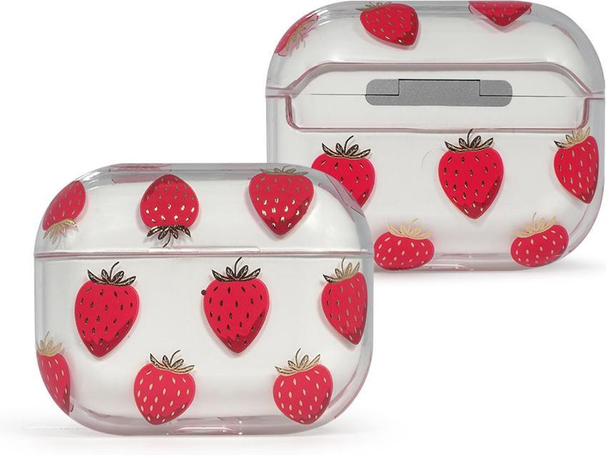 Coverz AirPods pro hoesje Aardbei - AirPods pro hard case Strawberry