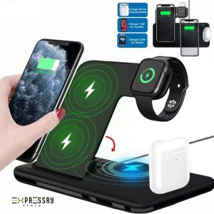 Docking station 18w wireless charger 4 in 1 station stand dock Charger Q20 Voor Apple watch/ Airpods pro BIJ EXPRESSRY STORE