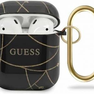 GUESS AirPods 1 & 2 Hoesje - Gold Chain Collection - Zwart