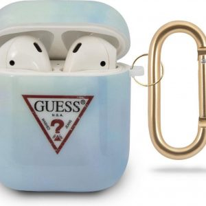 GUESS AirPods 1 & 2 Hoesje - Tie & Dye Collection - Blauw
