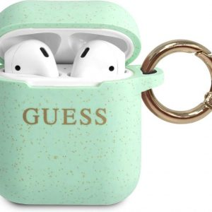 GUESS Silicone Case AirPods 1 / AirPods 2 - Groen