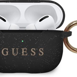 GUESS Siliconen Cover Hoesje Airpods Pro - Zwart