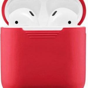 GadgetBay Soft Silicone hoesje voor Apple AirPods Case - Rood