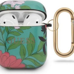 Guess Airpods etui GUACA2TPUBKFL01 green Flower Collection