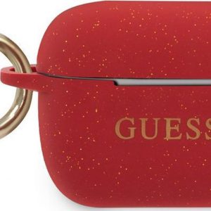 Guess Siliconen Cover Hoesje Airpods Pro - Rood