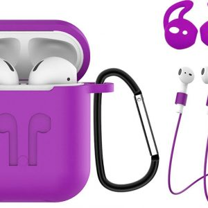 Hoes voor Apple AirPods 2 Hoesje Case 3-in-1 Siliconen Cover - Paars