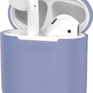 Hoes voor Apple AirPods Hoesje Case Siliconen Cover Ultra Dun - Lila