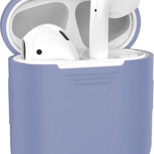Hoes voor Apple AirPods Hoesje Siliconen Case Cover - Lila