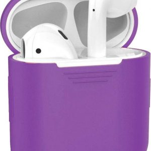 Hoes voor Apple AirPods Hoesje Siliconen Case Cover - Paars