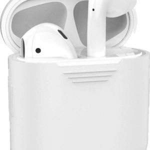 Hoes voor Apple AirPods Hoesje Siliconen Case Cover - Transparant