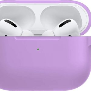 Hoesje voor Apple AirPods Pro Case Siliconen Hoes - Lila