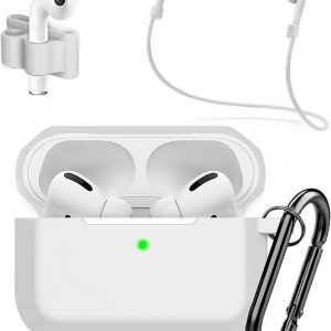 MMOBIEL Siliconen Case Compatibel met AirPods Pro (Wit) 4 in 1 Set
