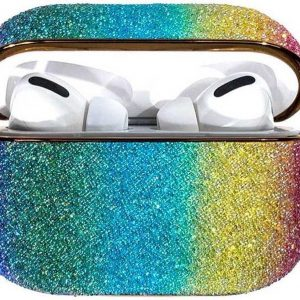 Rainbow shiny glitter case Protector for AirPods AirPods Pro - Meerkleurig