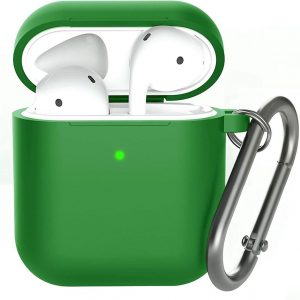 Shieldcase Apple Airpods silicone case - donkergroen