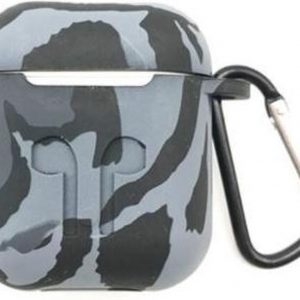 Shieldcase Camouflage Pattern Silicone Airpods Case - grijs