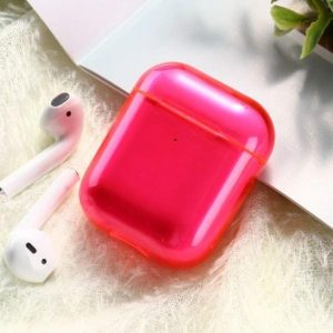 Shieldcase Neon Vibes Apple Airpods case - neon roze