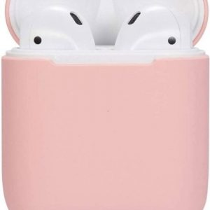 Silicone Hoesje Apple Airpods 1/2 Oplaadcase Cover draadloos Airpods l Airpods Hoesje Siliconen Case - Roze (Rose)