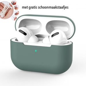 Siliconen Case Apple AirPods Pro groen - AirPods hoesje groen - midnight green - AirPods case