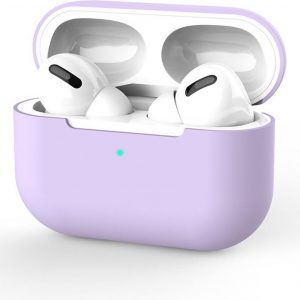 Siliconen Case Apple AirPods Pro paars- AirPods hoesje Lila paars - AirPods case