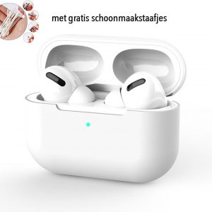 Siliconen Case Apple AirPods Pro wit- AirPods hoesje wit - AirPods case