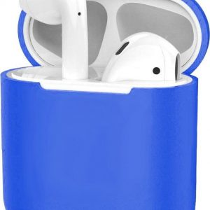 Siliconen Hoes voor Apple AirPods 2 Case Cover Ultra Dun Hoes - Blauw