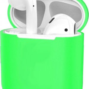 Siliconen Hoes voor Apple AirPods 2 Case Cover Ultra Dun Hoes - Groen