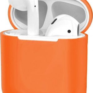 Siliconen Hoes voor Apple AirPods 2 Case Ultra Dun Hoes - Donker Oranje