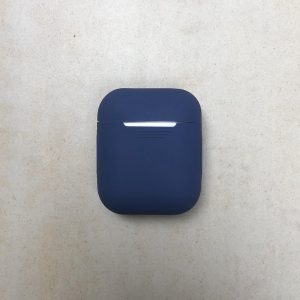 Soft silicone cover   voor Apple airpods  draadloze koptelefoon bescherm hoes   safety case  donkerblauw