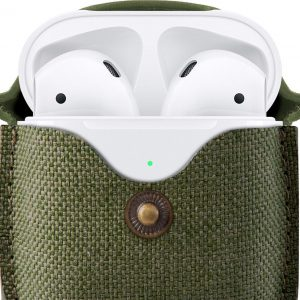 TWELVE SOUTH AirSnap for AirPods twill olive green