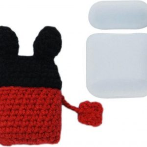 Wollen AirPods 1 en AirPods 2 Case Hoesje - Micky Mouse