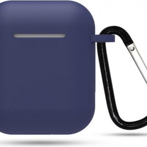YPCd® Apple AirPods Hoesje - Donkerblauw - Soft case