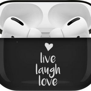 iMoshion Design Hardcover Case voor de AirPods Pro - Live Laugh Love
